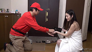 video titel: Temptation Of A Half Naked Japanese Housewife || porn tgas: asian,bathroom,erotica,fetish,pornone_com